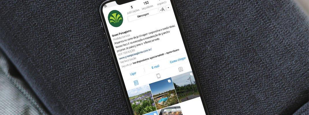 Green Paisagismo divulga seus trabalhos nas redes socias